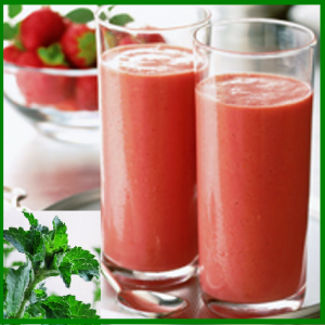 strawberry-yogurt-smoothie stevia