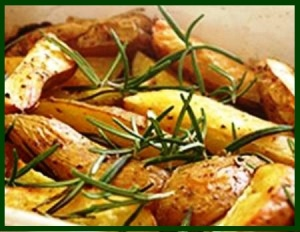 Rosemary on Potatoes