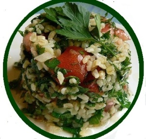 tabouli with parsley