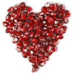 pomegranate seed heart