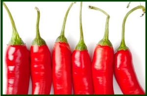 5 cayenne peppers