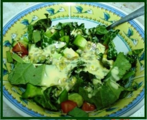 Milk thistle salad