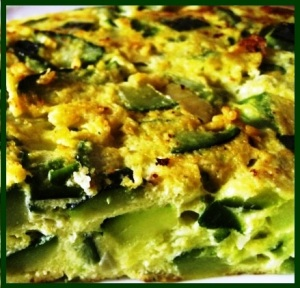 Zucchini with potatoes and eggs
