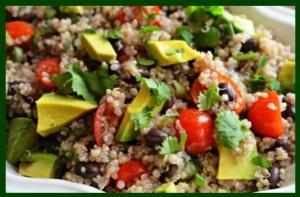 Cilantro quinoa salad