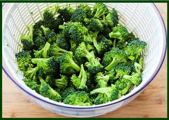 P-Washing broccoli