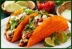 Tacos with cilantro