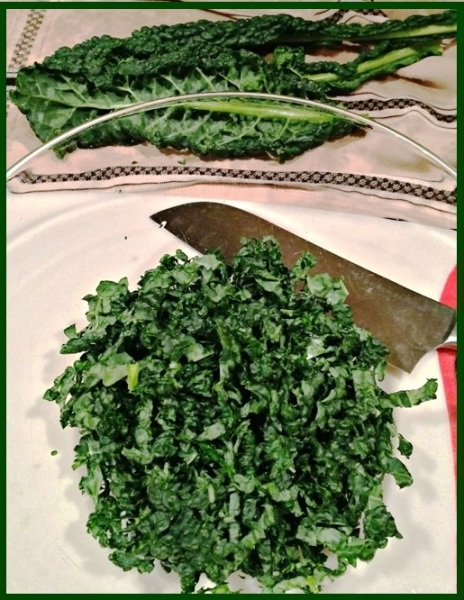 shredding kale