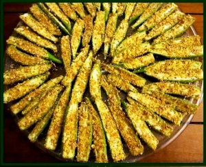 Crispy seasoned okra