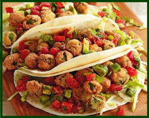 Fried okra taco