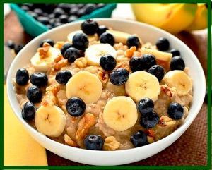 Blueberry Banana Nut Oatmeal