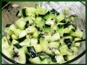 Creamy Cucumber Salad done