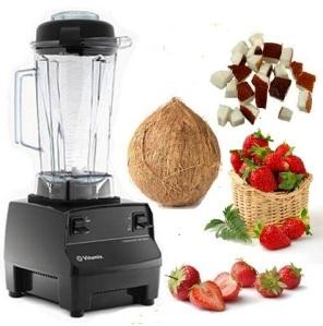 Vitamix - Strawberries and Coconut