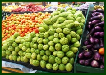 chayote at the market