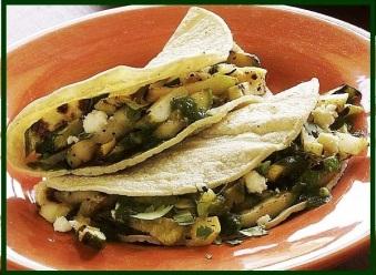 Chayote taco