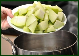 cooking chayote