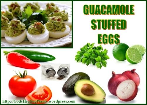 Guacamole stuffed eggs GHP