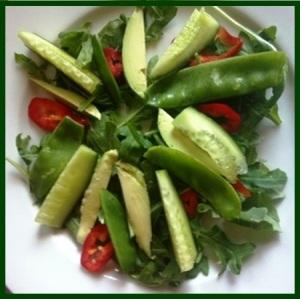 avocado-snowpea-salad